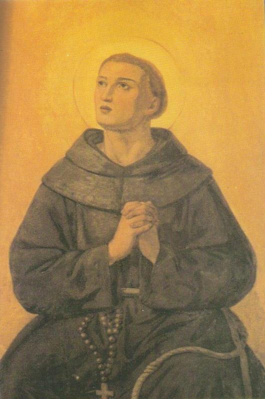 Affresco su muro della Chiesa di Sant'Isidoro di Roma.