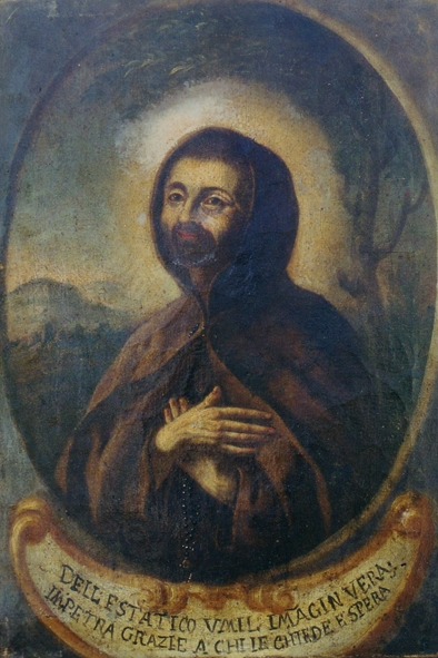 Ignoto pittore Ritratto di Frate Umile da Bisignano Dipinto su tela del XVIII secolo collezione privata  Archivio G. Esposito